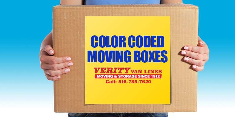 Color Coded Moving Boxes